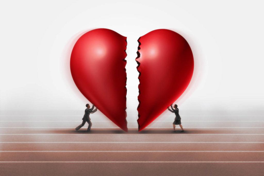 Gebrochene Herzen wieder vereinen